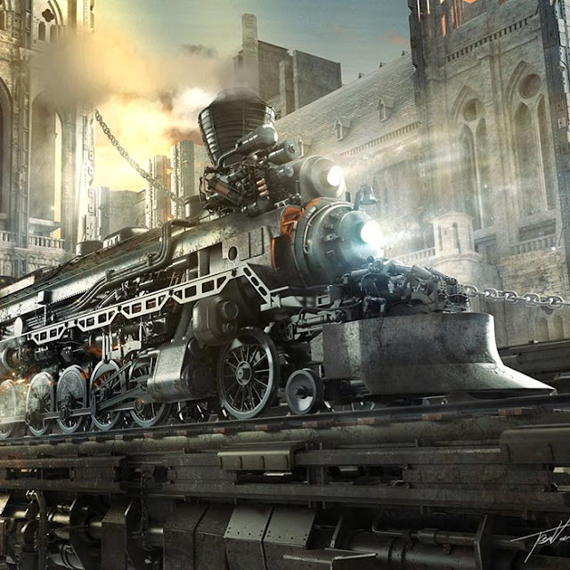 Steampunk Train Wallpaper Engine