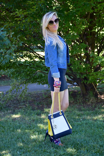 outfit giubbino jeans come abbinare il gubbino jeans abbinamenti giubbino jeans denim jacket how to wear denim jacket how to combine denim jacket denim jacket outfit mariafelicia magno fashion blogger colorblock by felym outfit luglio 2016 outfit estivi summer outfits july outfits fashion blogger italiane fashion bloggers italy