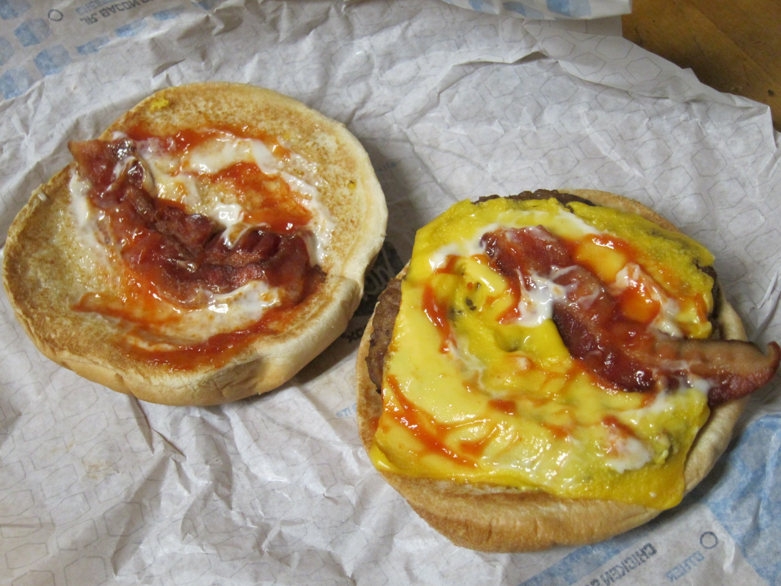 review: jack in the box - jr. bacon cheeseburger | brand eating
