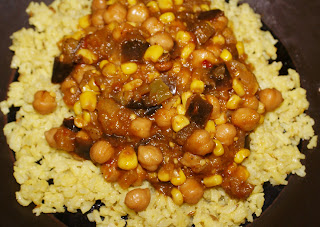 Moroccan Eggplant and Chickpea Stew