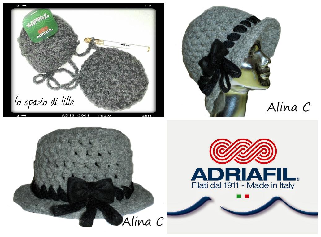 Cappello crochet con KAPPA2 di Adriafil 47ab83bc4396