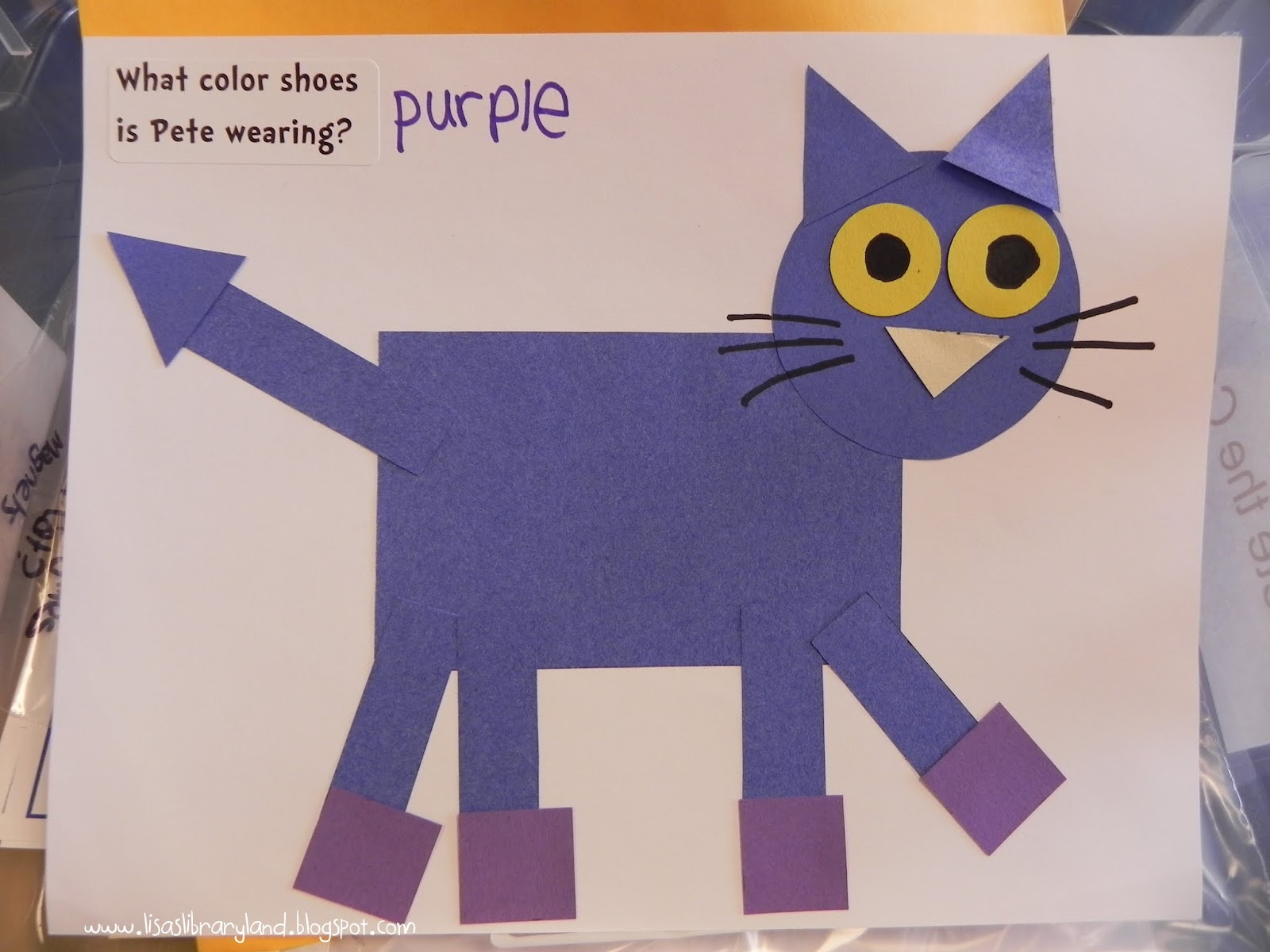 Pete The Cat I Love My White Shoes Craft