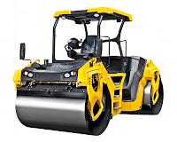 Çift silindirli asfalt sıkıştırma ya da yol düzleştirme makinesi