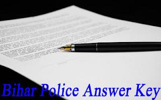 बिहार पुलिस कांस्टेबल आंसर की २०१७ डाउनलोड