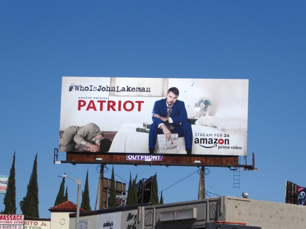 Patriot series premiere billboard