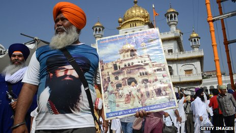 In June militant Sikhs gathered at the Golden Temple to mark the 29th anniversary of what they see as a war crime