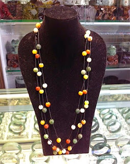 Beaded jadeite chains new style
