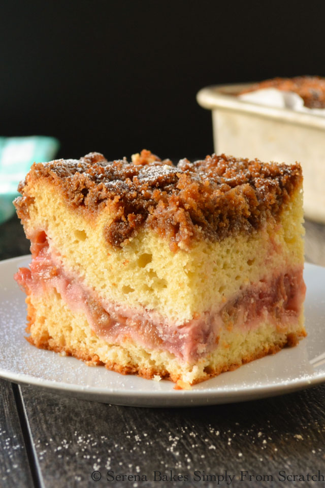 Strawberry Rhubarb Coffeecake is an easy to make family favorite perfect for brunch or dessert.