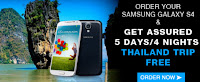Free Thailand Vacation, Samsung Galaxy S4, Buy, Best Deal