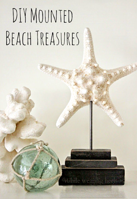 DIY Pedestal Stands for Starfish and Shells
