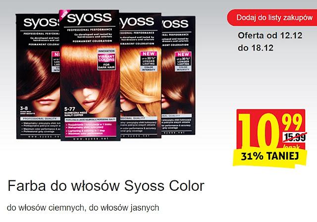 Farba do włosów Syoss Color, Biedronka, promocje