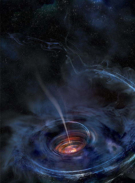 Artist's impression of the Supermassive Black Hole