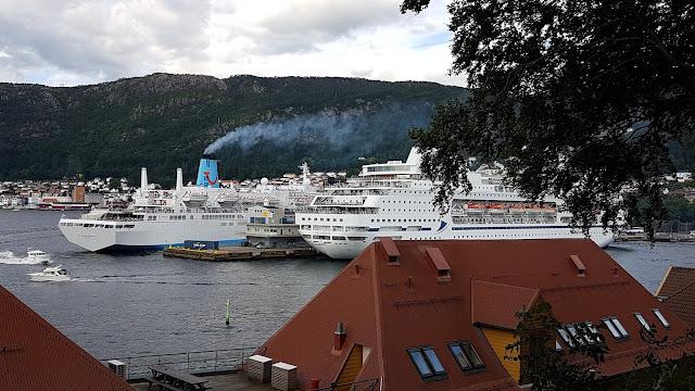 CMV Flagship MV Columbus in Bergen, Norway; Cruise ships in Bergen