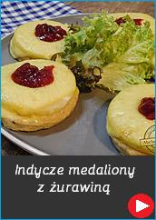 Indycze medaliony z ananasem i żurawiną