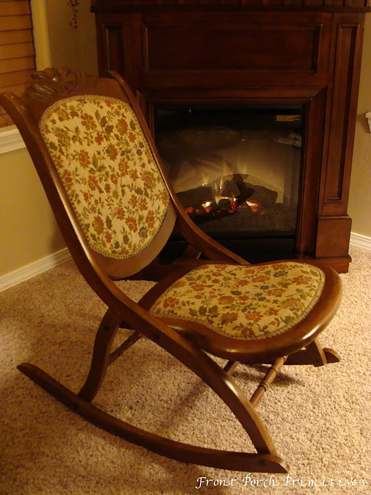 Front Porch Primitives Antique Folding Sewing Chair