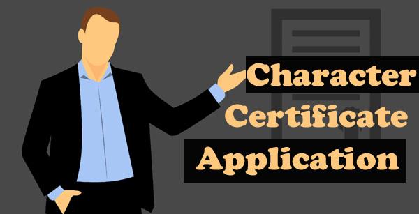 character certificate application hindi english