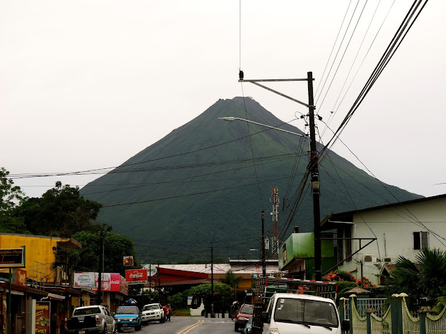 Arenal Volcano seen from La Fortuna, Costa Rica