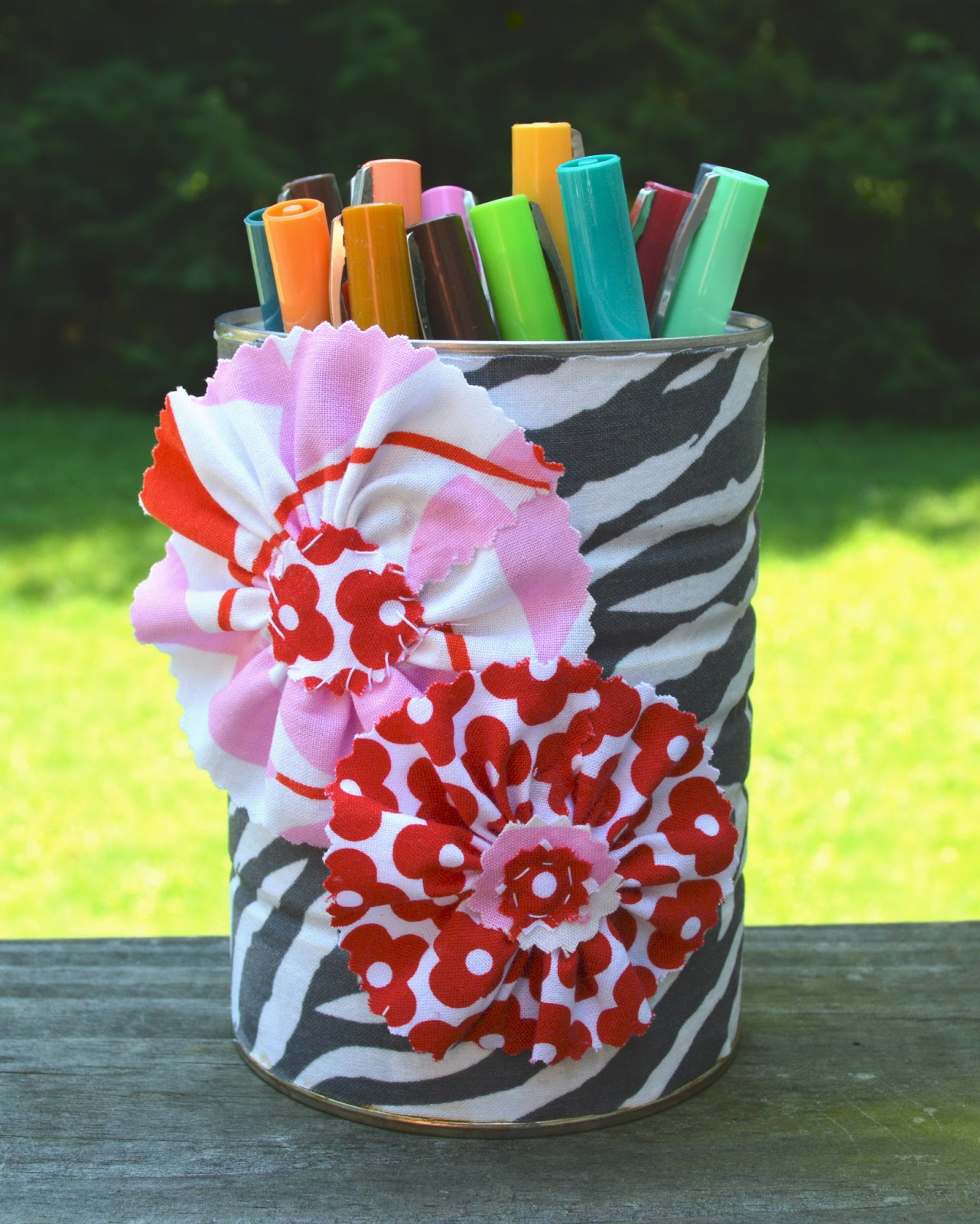 Textile Trolley Easy Craft For Children Pencil Pot Out