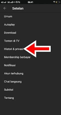 Hapus Riwayat Pencarian Youtube Android