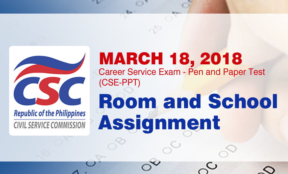 Civil Service Exam PH: Region 12 Room and School Assignment: March