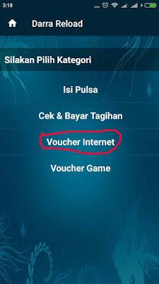 cara mengisi paket internet 2