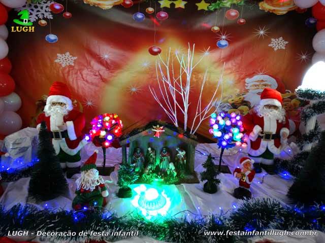 Decoração de Natal para aniversário infantil