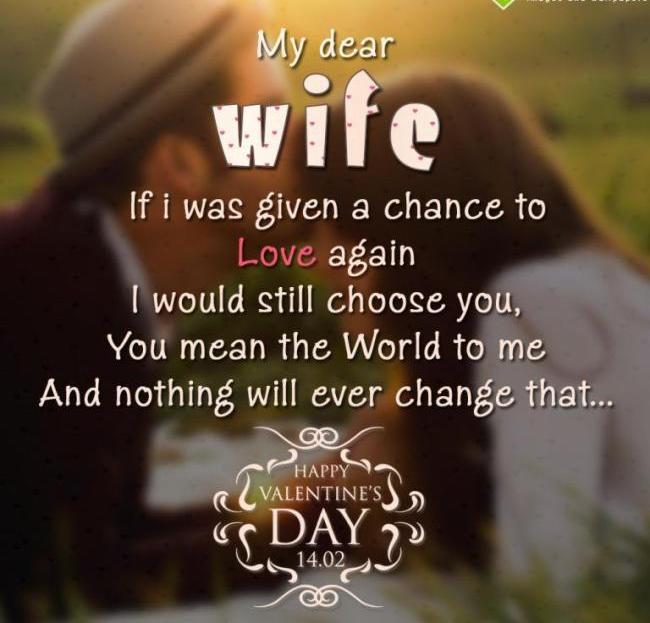 valentine love message for wife valentine s day info