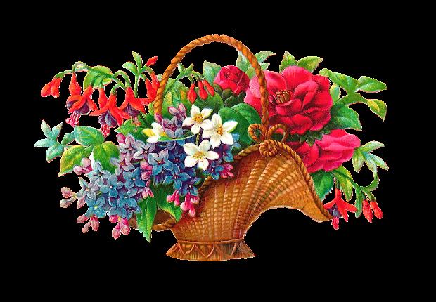 antique free flower basket