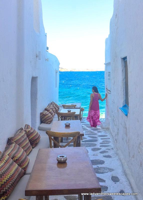 A famous Instagram spot in Mykonos
