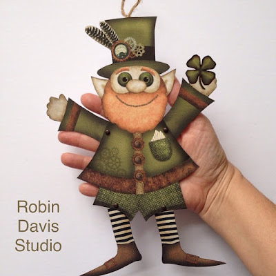 St. Patrick's Day Printable Leprechaun craft - Robin Davis Studio