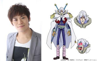 Makoto Furukawa como Sappa, quien porta dos espadas.