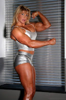 Female bodybuilding with a formidable physical