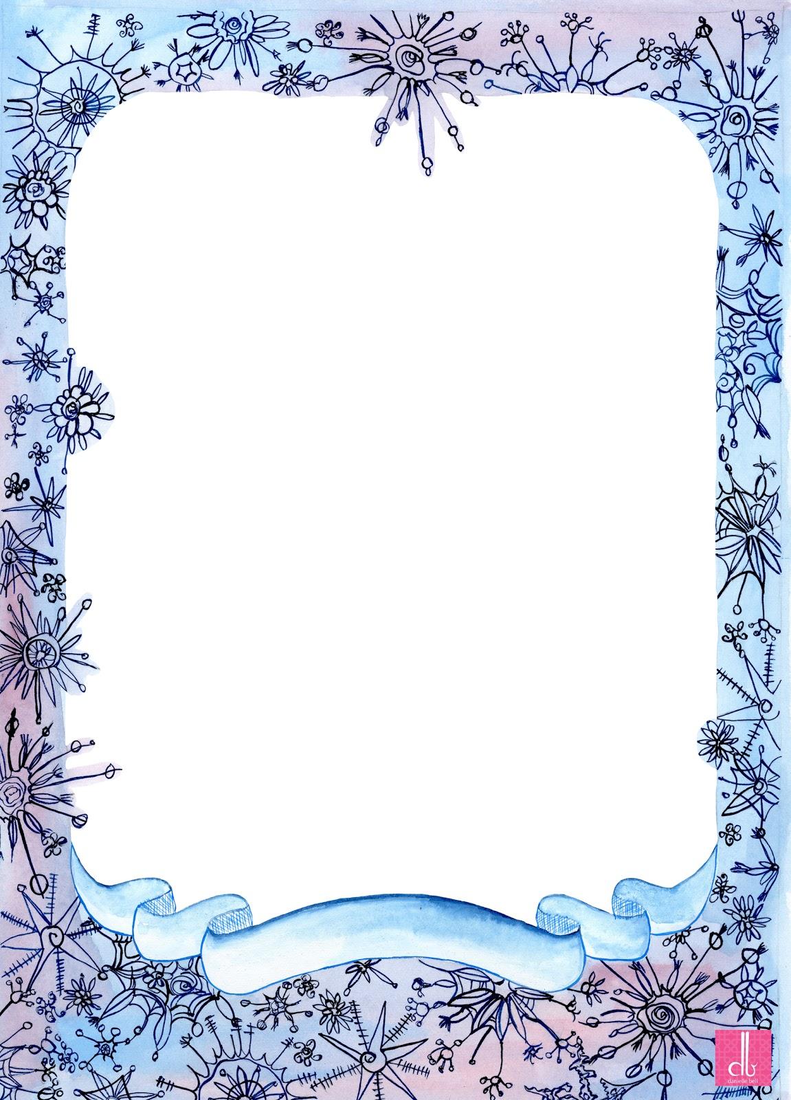 free snow clip art borders - photo #22
