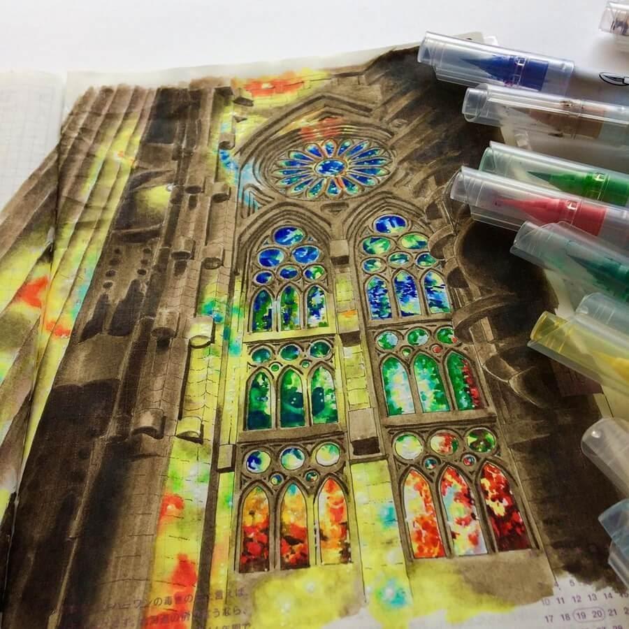 04-Sagrada-Família-Gaudi-Drawings-Rihiko-www-designstack-co