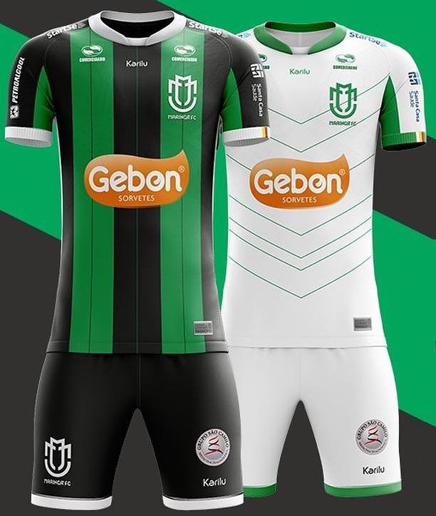 d71f58428 Karilu divulga as novas camisas do Maringá. A fabricante de material  esportivo ...