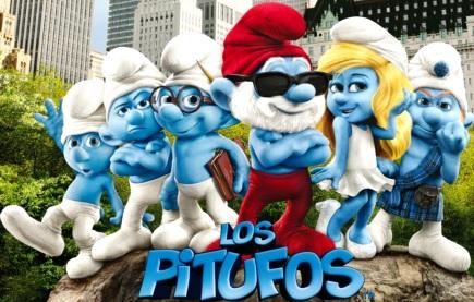 Dibujo de algunos personajes de Los Pitufos