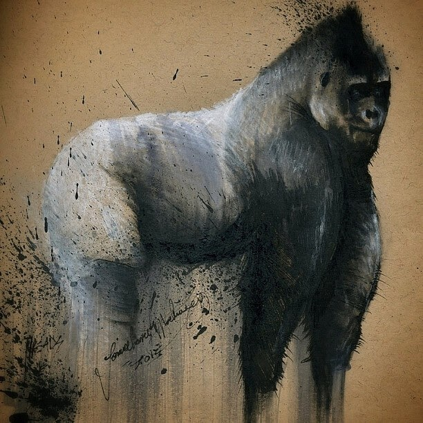 12-Mountain-Gorilla-Jonathan-Martinez-Animal-Drawings-with-Colored-Pencils-www-designstack-co