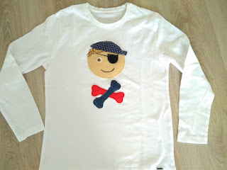 camiseta niño pirata