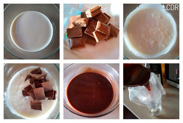 Receta de flores fritas rellenas de chocolate 02