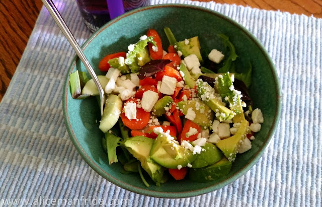 salad, healthy, lunch, what I ate, tasty Tuesday