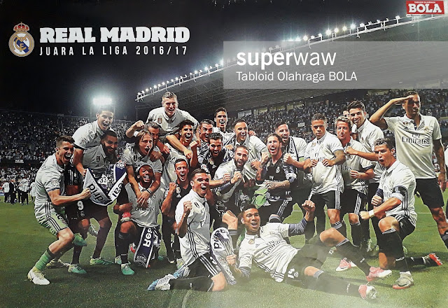REAL MADRID LA LIGA 2016 2017 WINNER