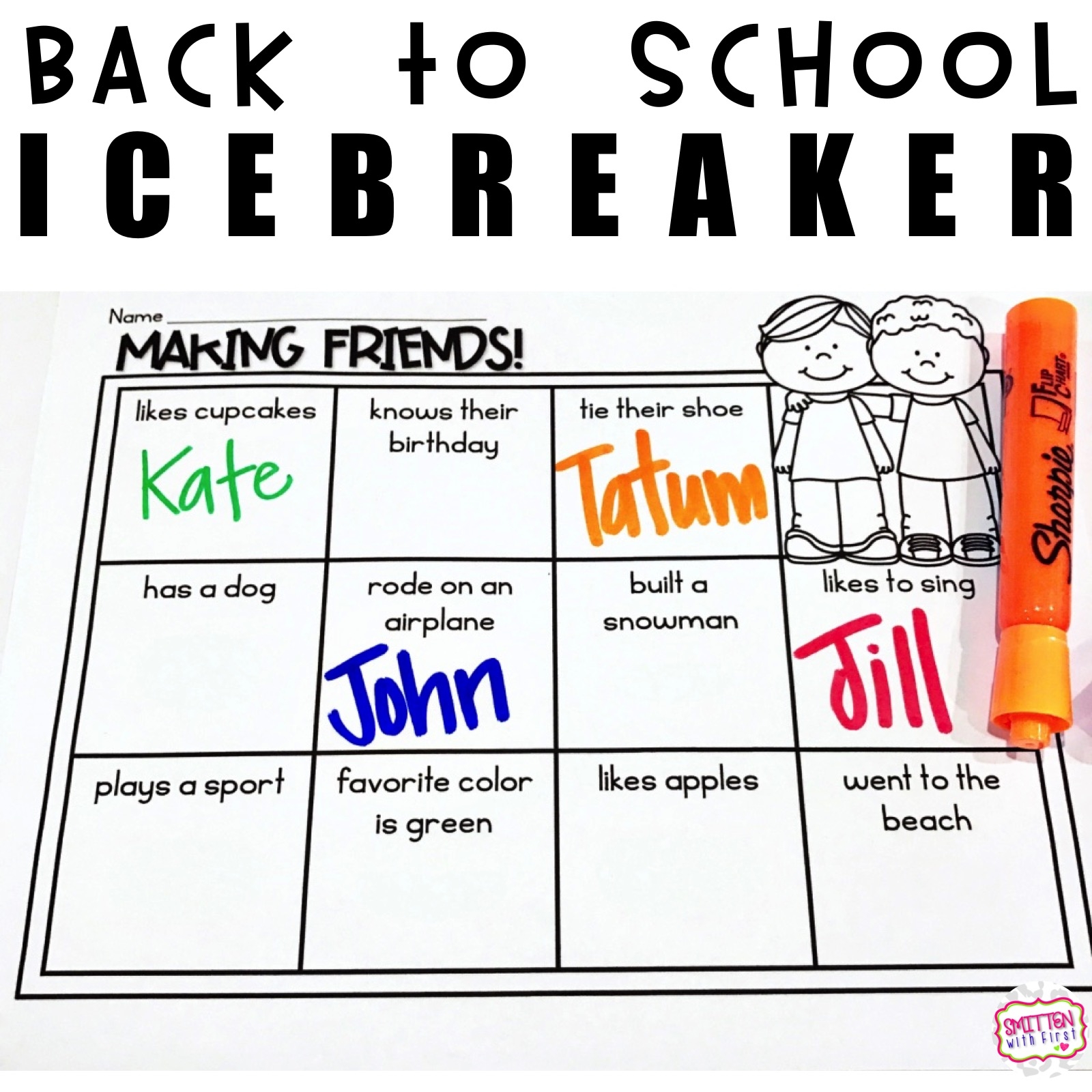 Back To School Icebreakers Plus A Freebie