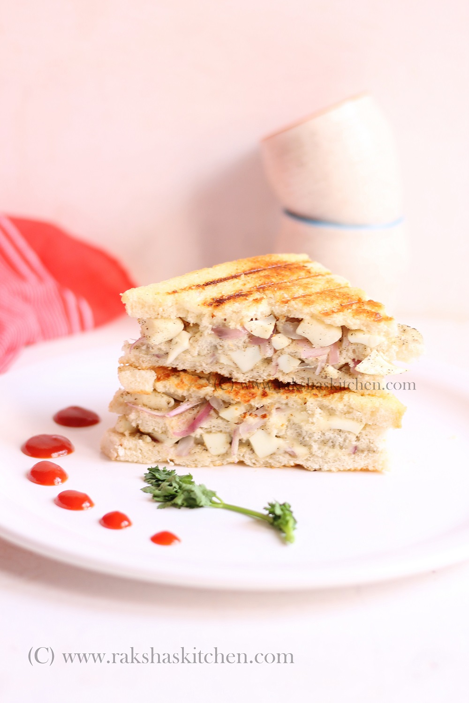 boiled egg white sandwich