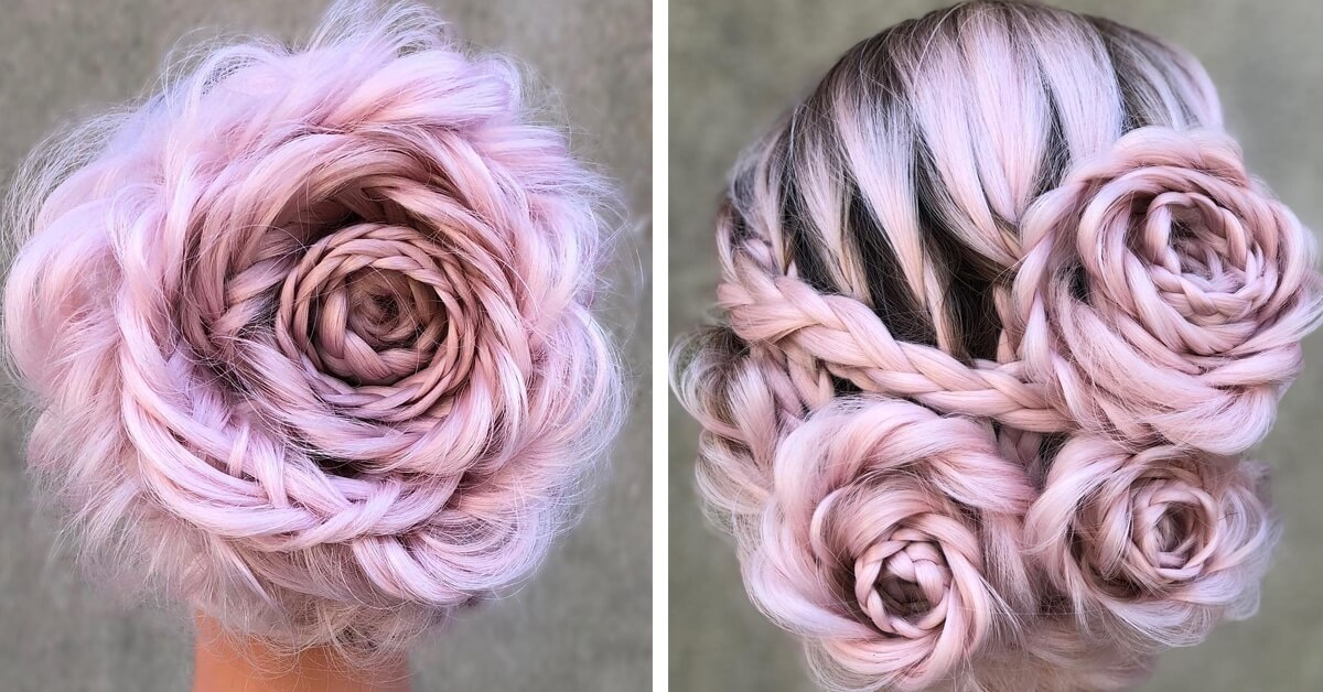 This Hairstylist Created A Beautiful Braided Updo That Turns Your Hair Into A Blooming Rose