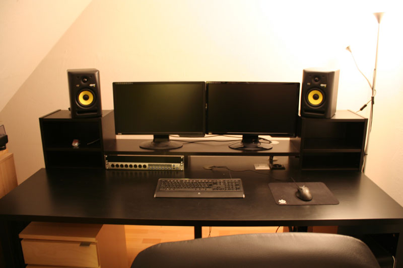 Music Producing Desk  IKEA Hackers  IKEA Hackers