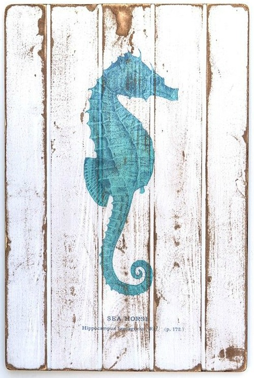 Vintage Sea Life Art on Wood