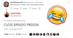 """Foi só Jair Bolsonaro declarar """"Não sei quem é Pablo Vitar"""" pra gente ter o diálogo mais hilário do twitter ever"""