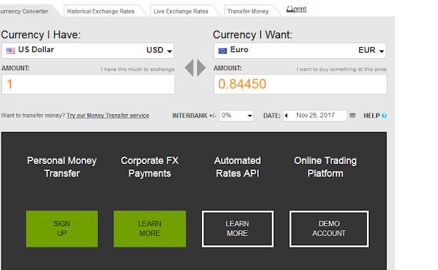 موقع مفيد للتحويل بين العملات ولهم ايضا تطبيق للجوالات  Currency Converter