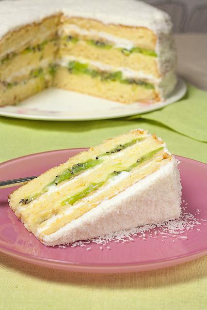 Egzotična torta sa kivijem i bananama