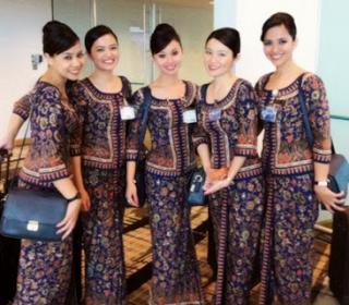 Dress Baju Batik Kerja Bank Modern Terbaru